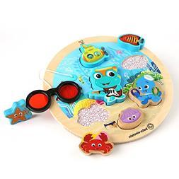 Baby Einstein Submarine Adventure Wooden Puzzle Toddler Toy,