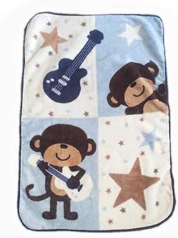Danica Super Cozy Plush Baby Blanket, Cute Animal Pattern, 4