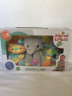 Bright Starts taggies Tags 'n activities 3 toys/gift Set A