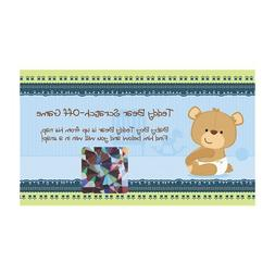 Baby Boy Teddy Bear - Party Game Scratch Off Cards - 22 Coun
