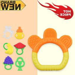 Teether Silicone Baby Toys Lot Rubber Teether Pacifier Squea