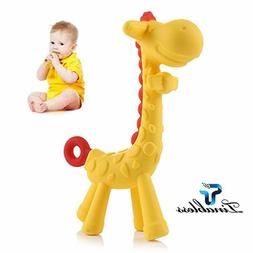 Teething Toy Baby Teether Toys Giraffe Soft Natural Organic