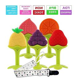 Baby Teething Toys, FDA Approved BPA-Free Soft Silicone Frui
