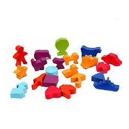 The Nature Wooden Toys Baby Animal Shaped Wooden Puzzle Bloc