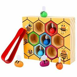 Toddler Bee Hive Preschool Wooden Toys,Bee Toy, Toddlers For