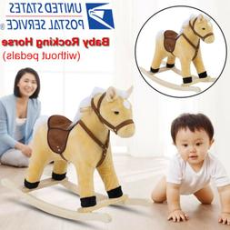 Toddler Plush Rocking Horse Animal Ride On Seat Play Toys Ki