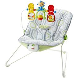 Toddler Rocker Baby Seat Bouncer With Soothing Vibration Toy
