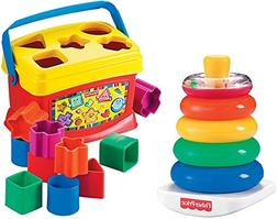 Toy Kids Baby Blocks Rock Stack Bundle Activity Learning Dev