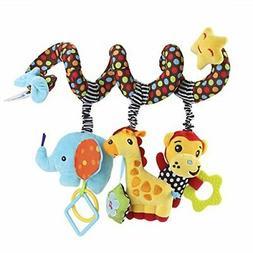 TOYMYTOY Kid Baby Spiral Bed Stroller Toy Monkey Elephant Ed