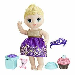 Toys Baby Alive Cupcake Birthday Baby Blonde Baby can hold h