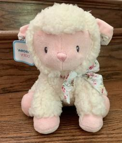 "Aurora Toys Baby Plush Girl Lamb 10"" Sitting Soft Toy Animal"