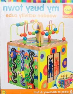 ALEX Toys Discover My Busy Town Wooden Activity Cube... NEW!