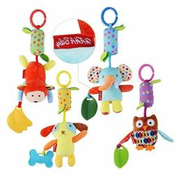 HAHA Baby Toys for 0 3 6 to 12 Months - Soft Hanging Crinkle