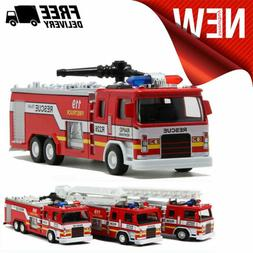 Toys For Boys Kids LED Music Toy Car Fire Truck for 3 4 5 6