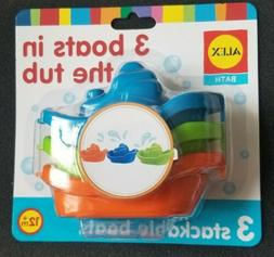 ALEX Toys Rub A Dub 3 Boats In The Tub Stackable Kids Baby N