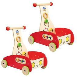 Hape Toys Toddler Baby Push & Pull Toy Wonder Walker Cart wi