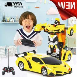 Toys Transformer RC Robot Car Remote Control 2 IN 1 Kids Boy