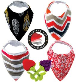 ZEiGO Triple Layer Baby Bandana Drool Bibs with Teething Toy