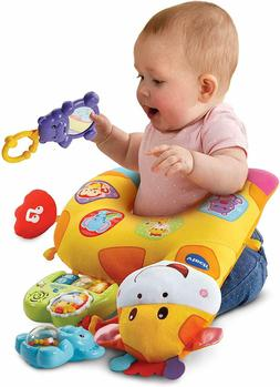 VTech Tummy Time Discovery Pillow, for baby boy and girl gif