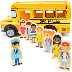 Brybelly TVEH-010 Back to School Bus Playset