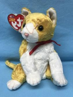 "TY 10 Year Beanie Baby TANGLES The Cat 10""  2003 Plush Stu"