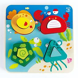 Hape Underwater Escapades Kid's Wooden Sorting Puzzle