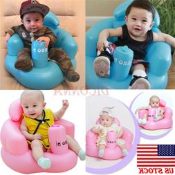 US Baby Inflatable Seat Aid Swimming Pool Float Bath Stool S