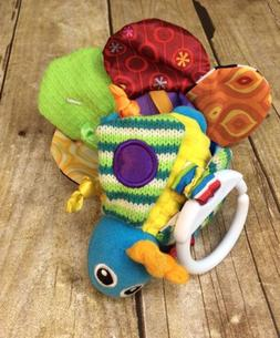 Lamaze Vibrating Crinkle Bee Bug Flower Pull Toy Hook On Att