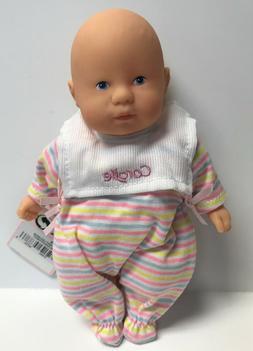 "Corolle Vintage Mini Baby Doll Toy 8"" Les Minis Stripe w/Bib"