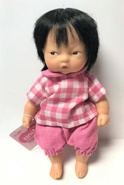 "Corolle Vintage Mini Baby Doll Toy 8"" Les Minis Asian NEW w/"