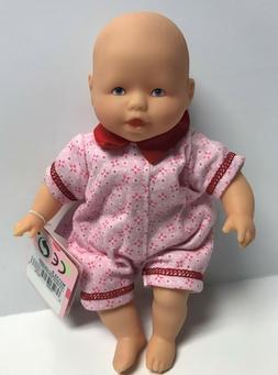 "Corolle Vintage Mini Baby Doll Toy 8"" Les Minis Burgundy Jum"