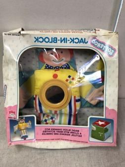 VINTAGE Jolly Toys Softeroo JACK IN BLOCK Cube Learning Toy