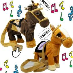 Walking Horse Pony Musical Singing Toys Plush Battery Horse