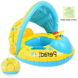 Peradix Baby Water Floats Toys with Inflatable Canopy Sunsha