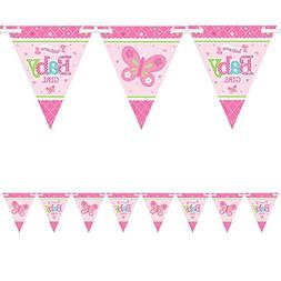 Welcome Little One Girl Banner Pennant  Per Amazon Combined