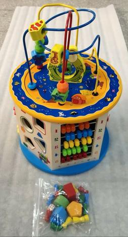 Wooden Activity Cube 8 in 1 Baby Bead Maze Toys Gift Educati