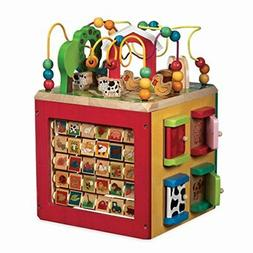 wooden activity cube discover farm