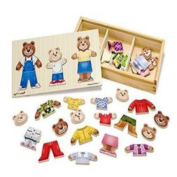 Wooden Bear Family Dress-Up Game