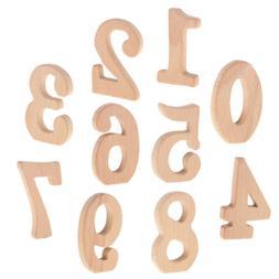 Wooden DIY Handmade Number Shape Ring Gift Baby Teether Teet