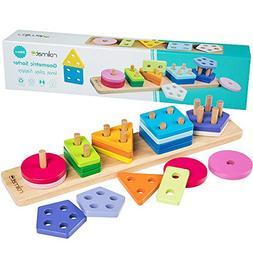 rolimate Wooden Educational Shape Color Recognition Geometri