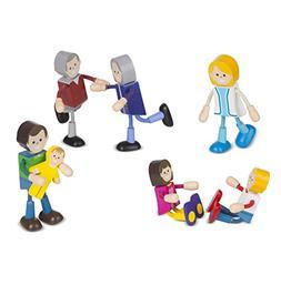 Melissa & Doug Wooden Flexible Figures- Family Dolls for Dol