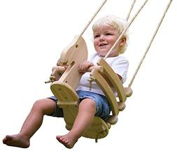 Ecotribe Wooden Horse Toddler Swing Set - Smooth Birch Wood