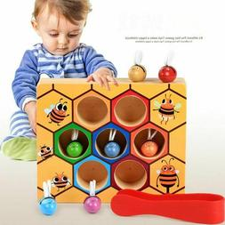 Wooden Leaning Educatinal Toy Montessori Bee Hive Games for