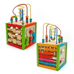 5 in 1 Activity Cube Toys Baby Educational Wooden Bead Maze