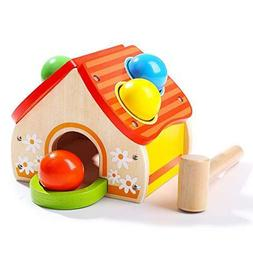 TOP BRIGHT Hammer Toy for 1 Year Old Boy Gifts Wooden Poundi