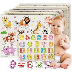 Wooden Puzzle Baby Hand Toy Grasp Kid Early Educational Toys