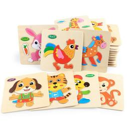 wooden puzzle educational developmental baby kids training