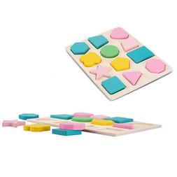 Wooden Shape Hand Grab Board Toy Geometric Panel Children's