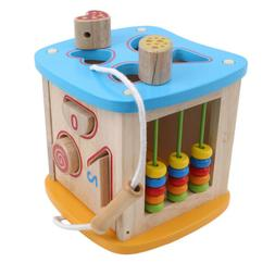 Wooden Shapes Sorter Activity Centers Lacing Beads Early Dev