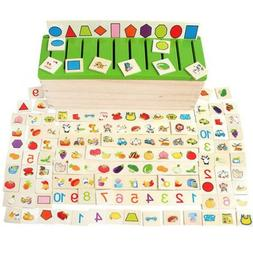 Wooden Sorting Box with Sorting Lid - 8 Categories Total 80